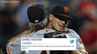 San Francisco Giants Pitcher Chris Heston Throws No-Hitter Against The New York Mets