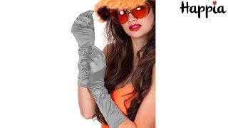 Серебряные шелковые перчатки для девушки / Обзор
