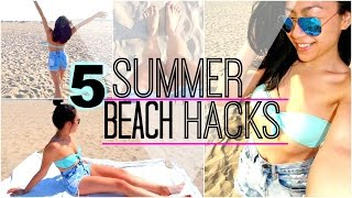 TOP 5   SIMPLE AND CHEAP SUMMER BEACH LIFE HACKS/TIPS YOU NEED TO KNOW!