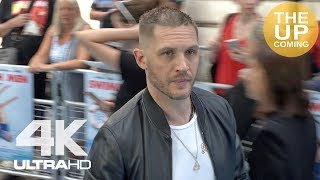 Tom Hardy arrival, photocall with Charlotte Riley, Venom autographs at Swimming with Men premiere