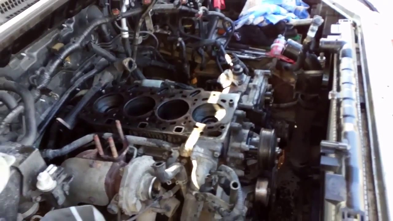 ремонт двигателя  Kia Sorento ч1