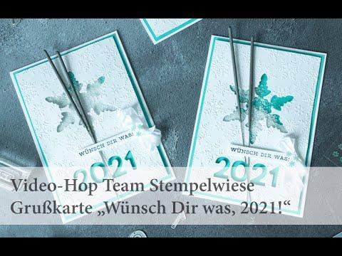 """Grußkarte """"Wünsch Dir was""""! Video-Hop vom Team Stempelwiese"""