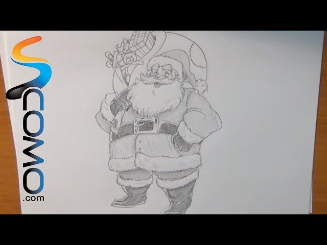 Aprende a dibujar a Papa Noel - How to draw Santa Claus Videos De Viajes