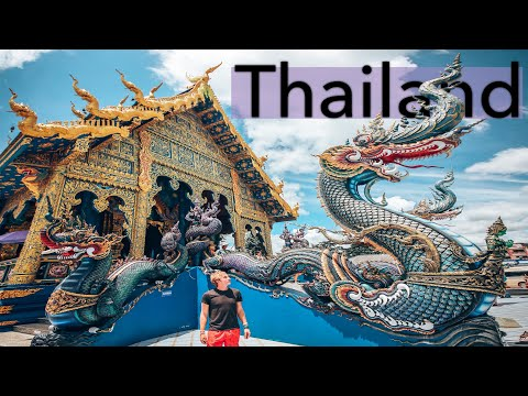 THAI TEMPLE TOUR! Visiting the most famous temples in THAILAND, WHITE TEMPLE and boat ride to LAOS!