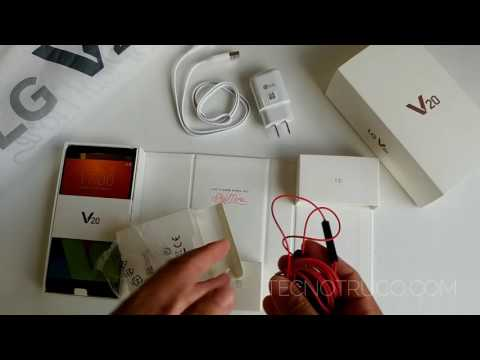 Unboxing LG V20 español