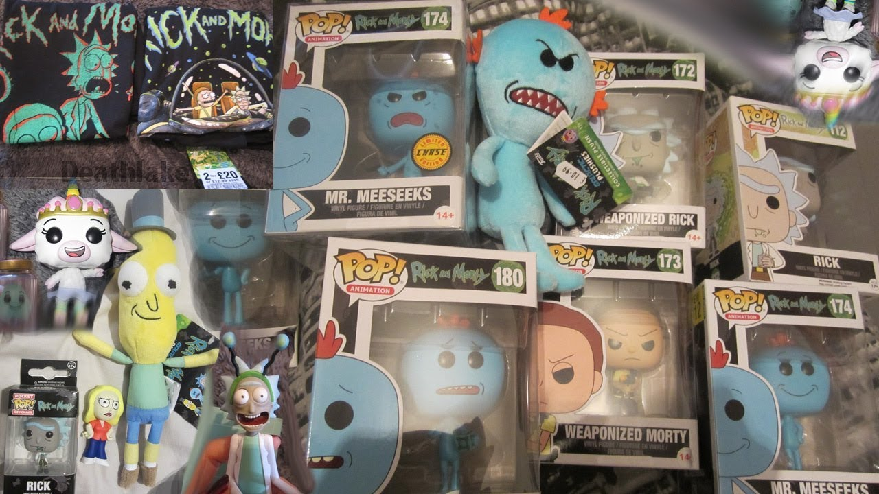 f5fed7e9 Rick and morty merch HAUL / funko pops / Tshirts/ tinkles and ghost in the  jar/ Mr poopybuttwhole