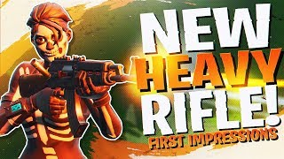 *NEW* HEAVY ASSAULT RIFLE REACTION/ANALYSIS! (Fortnite BR Full Match)