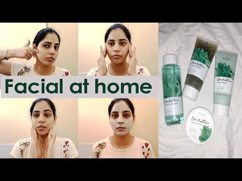 Facial at home | Easy get glowing bright skin | Oriflame Tea tree facial kit for oily skin