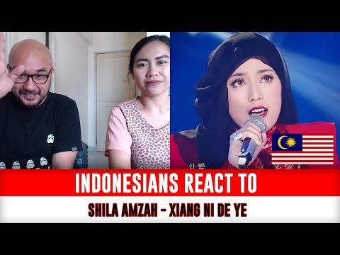 Indonesians React To Shila Amzah   想你的夜 Xiang Ni De Ye (The Night Thinking of You) LIVE