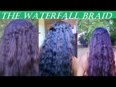 How to Do a Waterfall Braid or Curly Boho Hairstyles