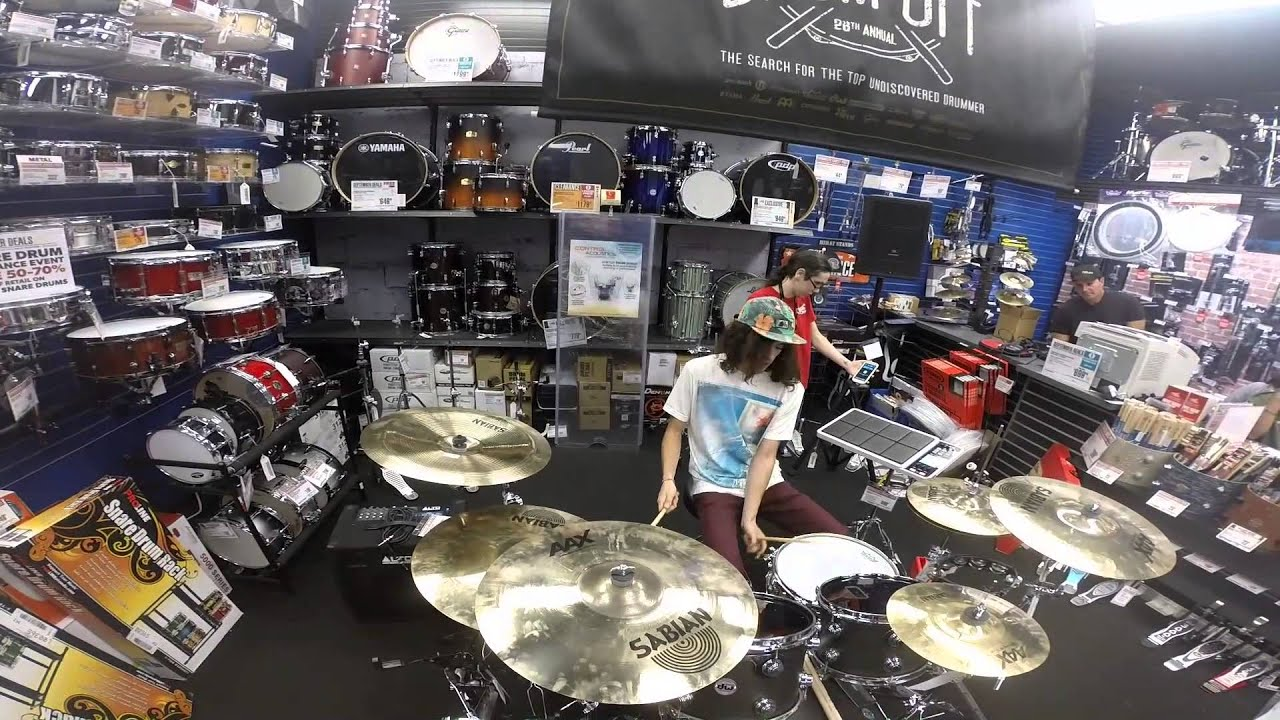 guitar center drum off store winner jowie dejohns youtube. Black Bedroom Furniture Sets. Home Design Ideas
