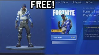 Comment télécharger la playstation SKIN à Fortnite! (NOUVEAU PlayStation Plus Skin - Back Bling Free)