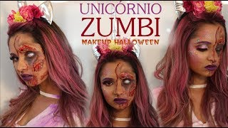 Make Halloween   Unicórnio Zumbi - Por: Kênia Gomes