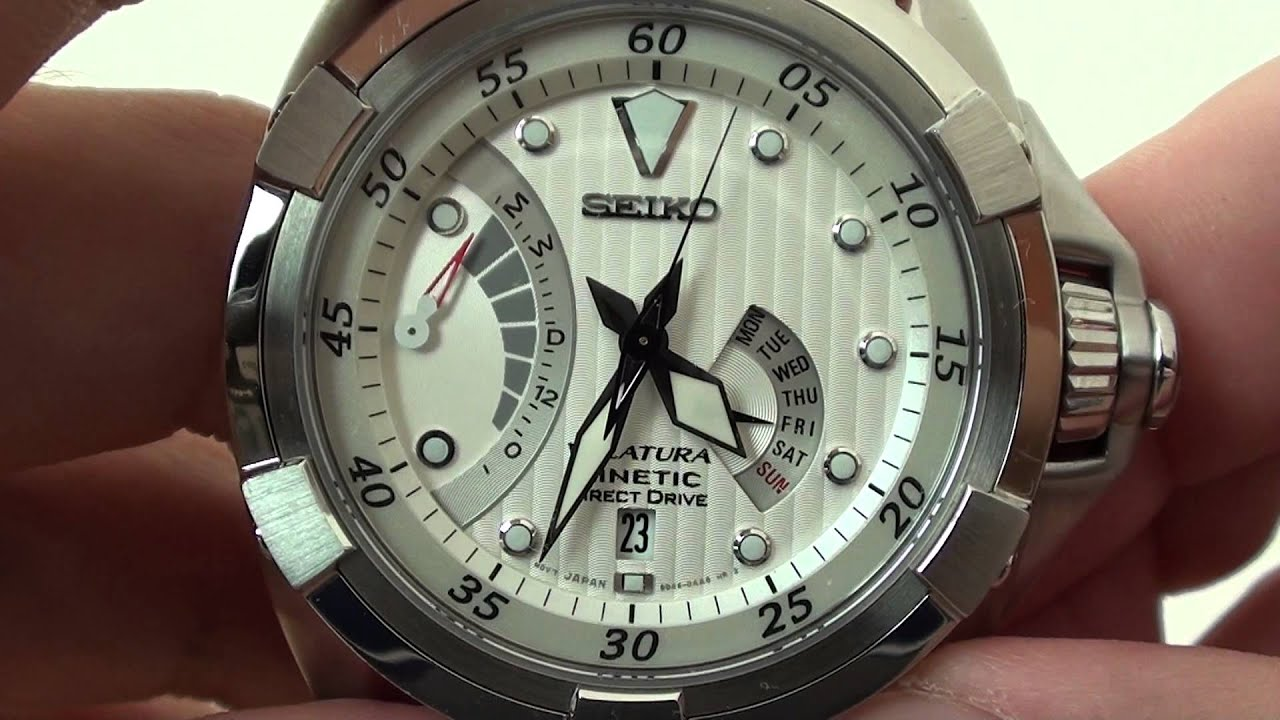 Seiko Velatura Kinetic Direct Drive SRH001P - YouTube 334272254f