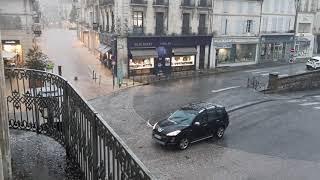 Orage de grêle à Angoulême