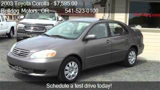 2003 Toyota Corolla LE MANUAL (GS) - for sale in Baker City