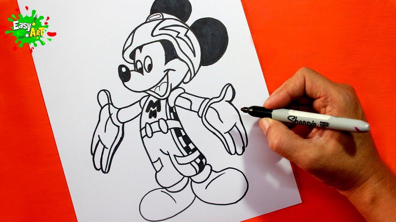 Como Dibujar A Mickey Mouse Disney Aventuras Sobre Ruedas Kids