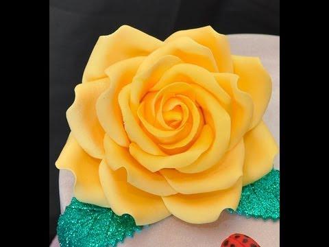 Rose in pasta di zucchero ,TUTORIAL SEMPLICE E VELOCE