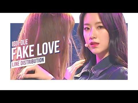 (G)I-DLE ((여자)아이들) - BTS 'Fake Love' (방탄소년단) (Line Distribution) │ M COUNTDOWN in TAIPEI