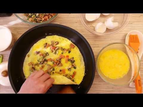 Омлет яичный с овощами