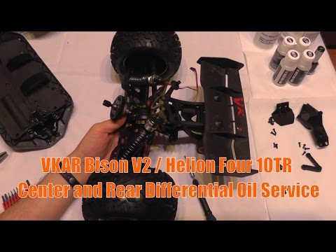 VKAR Bison - Helion Four 10TR - Central and Rear Differentials Oil Change Guide and Dissasembly