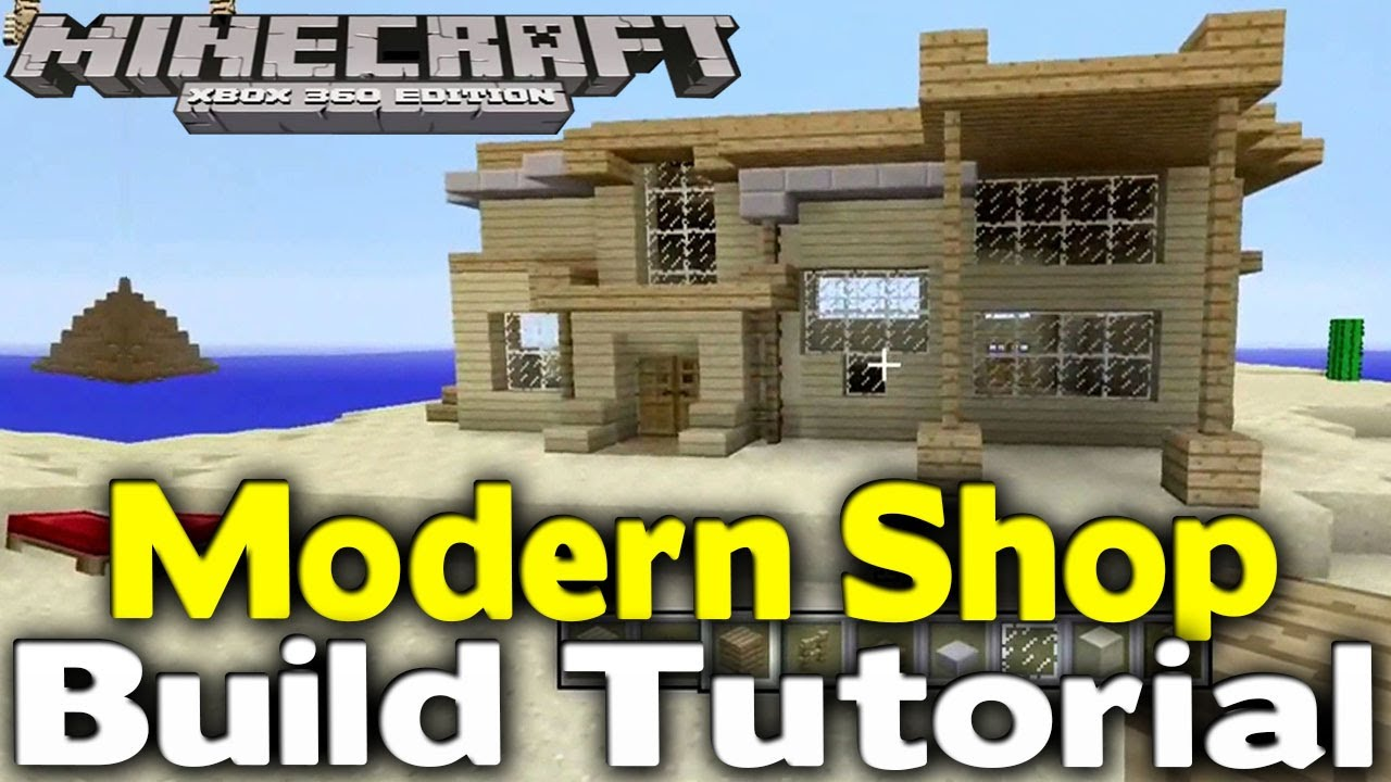 minecraft modern shop build tutorial how to build ep. Black Bedroom Furniture Sets. Home Design Ideas
