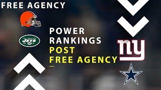 NFL Power Rankings Post Free Agency!