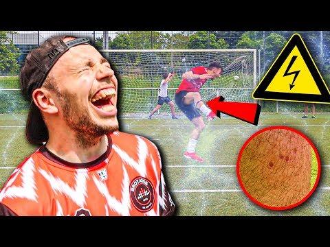 FIESE ELEKTROSCHOCKER FUßBALL CHALLENGE!