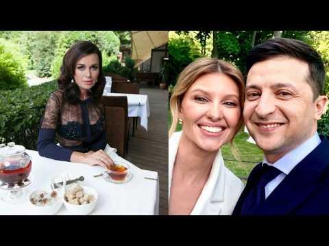 Зеленский, супруга, гостили ,Заворотнюк