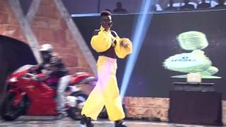 Wiyaala Arrives on Stage on Motorbike at AFRIMA 2015 in Lagos