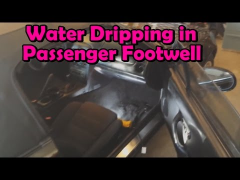(Miata) How To Fix Water Dripping In Passenger Footwell
