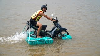 NTN - Thử Đi Xe Máy Trên Nước (Running motorbike on water)