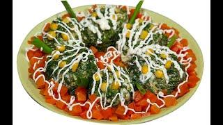 ШАРИКИ с СЕЛЕДКОЙ   Вкусный салат-закуска быстрый рецепт.