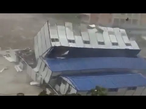 Apocalyptic typhoon Mangkhut hits Hong Kong, Shenzhen and Macau in China - September 15, 2018