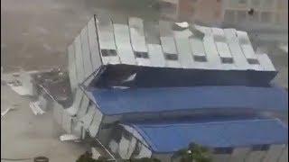 Apocalyptic typhoon Mangkhut hits Hong Kong, Shenzhen and Macau in China - September 15, 2018