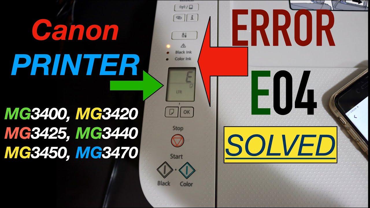 Download Canon Printer Error E04, E4 - Solved.