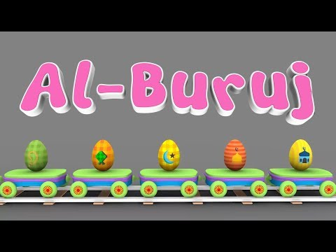 Animation 3D Juz Amma Al Buruj For Children Memories with Battar Trains Hijaiyah | Abata Channel