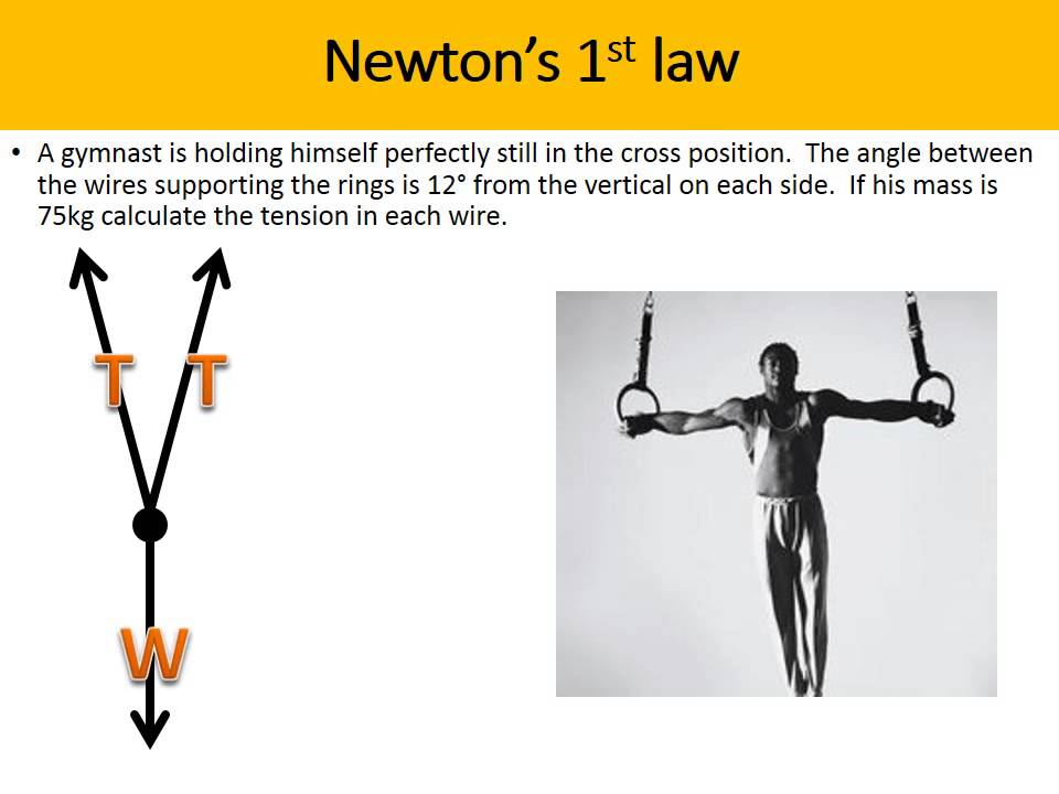 newton first law example