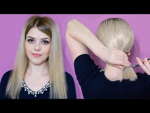Как подстричь волосы каре в домашних условиях видео