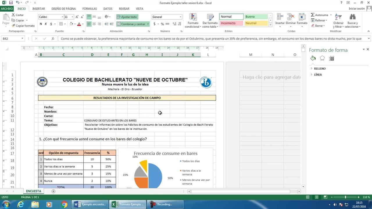 Representar Encuestas Con Gráficos Estadísticos En Excel