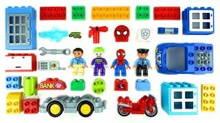 تعلّم الألوان مع ألعاب سيارات الشرطة للأطفال لعبة بناء Lego