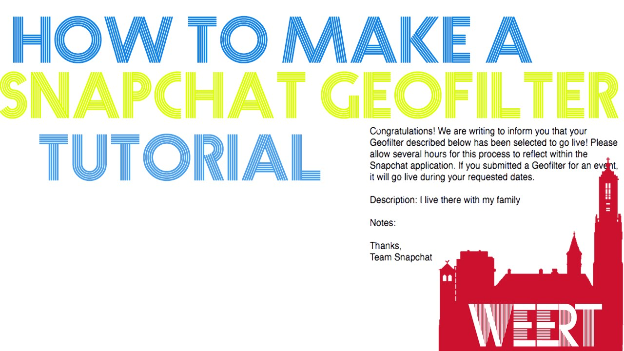 How to make a snapchat geofilter easiest and quickest way youtube for How to make a free snapchat geofilter