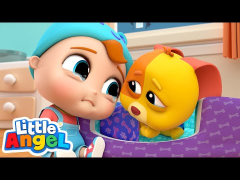 Bingo is Sick | Little Angel Kids Songs & Nursery Rhymes