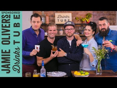 4 Cocktails, 4 Countries, 4 Bartenders! | REAL TIME RECIPES | #24HrBarBuild