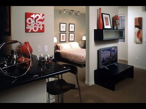 small home studio apartment interior design decorating ideas - YouTube