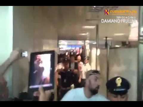 Roma: Strootman arriva a Fiumicino