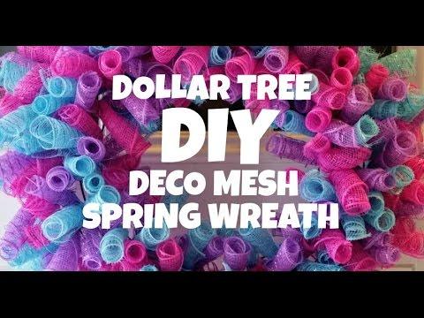 Dollar Tree Wreath Mesh