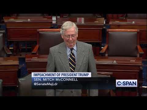 Sen. Mitch McConnell on Impeachment