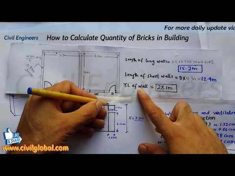How to Calculate Quantity of Bricks in Building