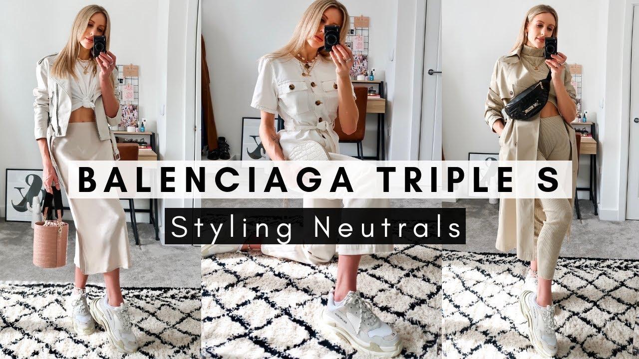 To Wear Balenciaga Triple S Sneakers